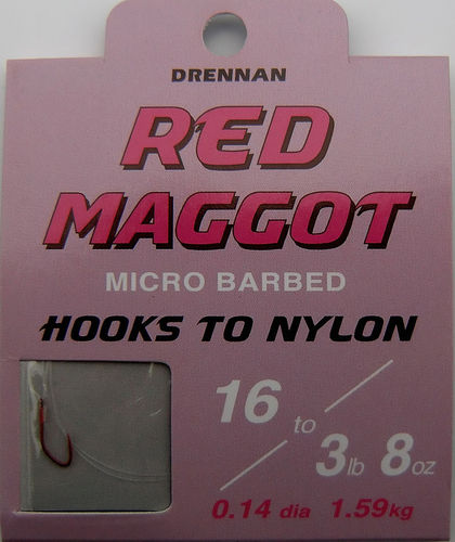 Drennan Red Maggot Haken #16 0.14mm 35cm